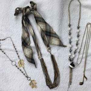 Jewelry - Set of four fun costume necklaces
